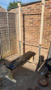 James' lockdown garden gym