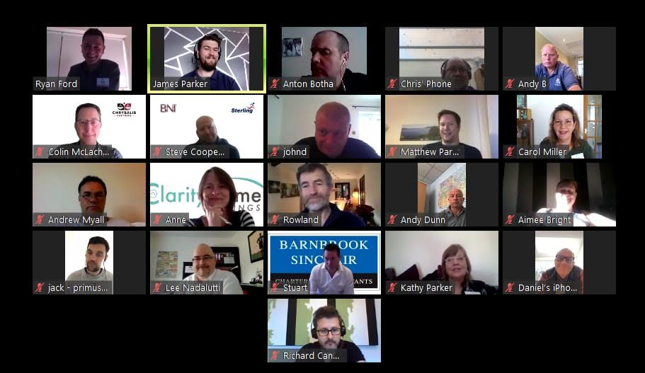 BNI zoom meeting 12th May 2020