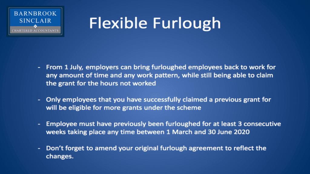 Changes to Furlough scheme
